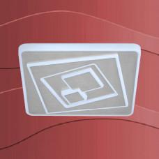 3475-018 Led plafonjera z srebrnim robom in regulacijo svetlobe
