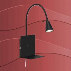 2083-015 Led stenska svetilka s priključnim kablom in stikalom