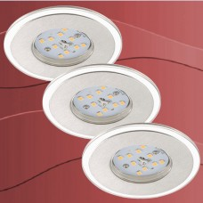 7197-039 Led vgradna zatemnilna svetilka set 3 svetilk IP44 - 5,5W