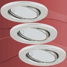7221-039 Led stropne vgradne svetilke set 3x3W