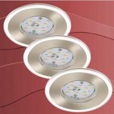 7257-032 Led vgradna stropna svetilka set 3 svetilk IP44 - 5,5W