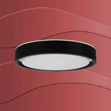 3227-015 Led senzorska plafonjera z RGB ambientalno osvetlitvijo in možnostjo nastavitve jakosti in barvne svetlobe z črnim robom