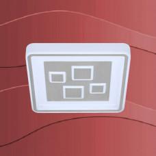 3473-019 Led plafonjera z srebrnim robom in regulacijo svetlobe